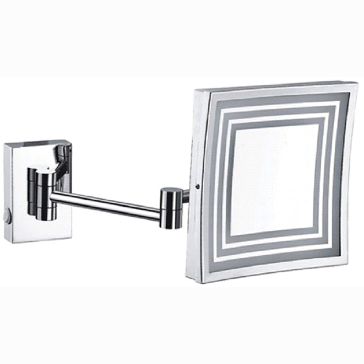 China Fyeer Single Side Wall Mounted Led Square Cosmetic Mirror China Led Makeup Mirror And Wall Makeup Mirror Price