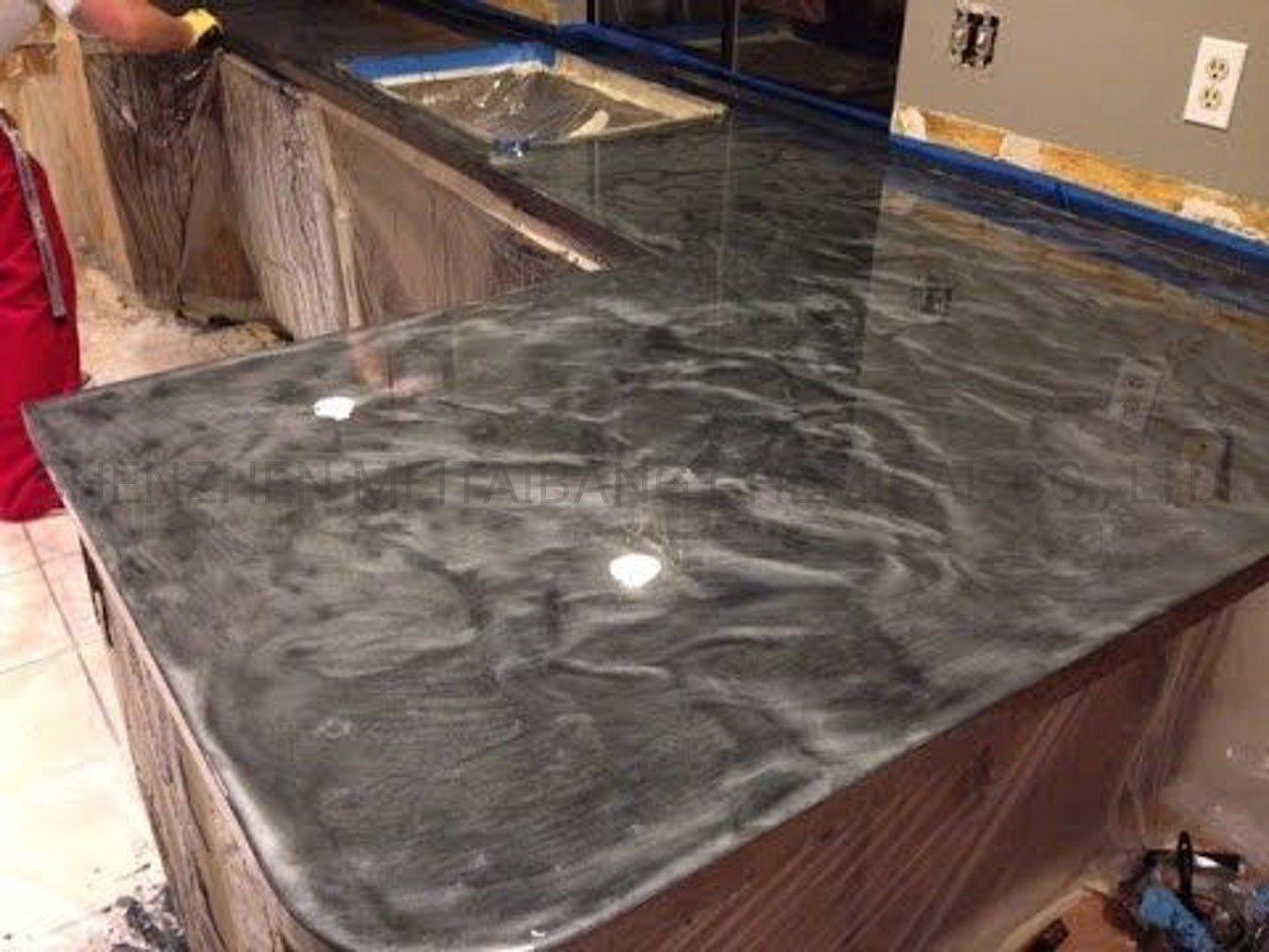 China Voc Free Metallic Countertop Epoxy Coating China Epoxy Resin For Kitchen Countertops Diy Resin Countertop For Kitchen