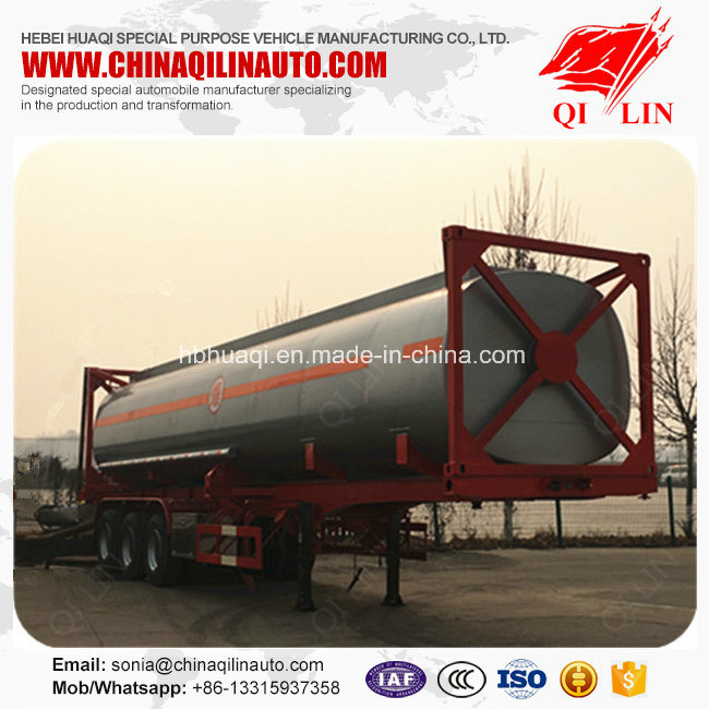 High Quality 40 Feet Skeleton Container Tanker Semi Trailer pictures & photos