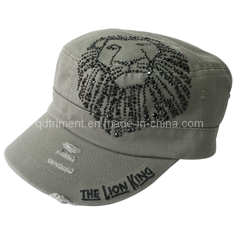 Grinding Washed Camouflage Embroidery Leisure Army Military Cap (TMM0915)
