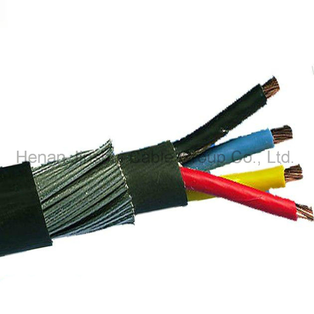 China Low Voltage 4 Core Steel Wire Armored Power Cable - China ...