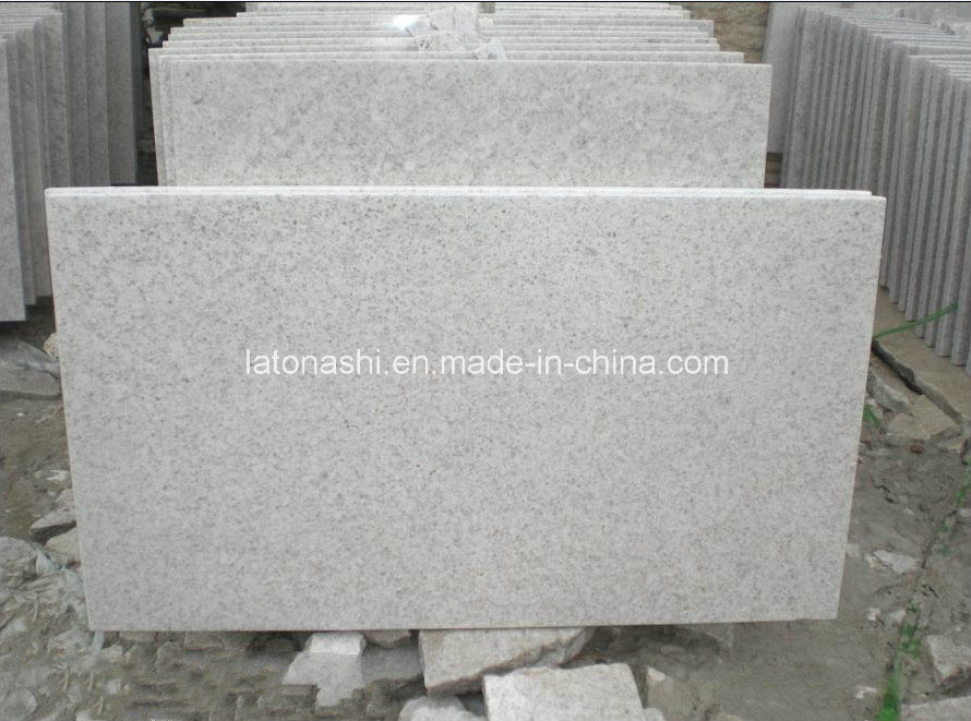 China Polished Pearl White Granite Tiles For Wall And Flooring