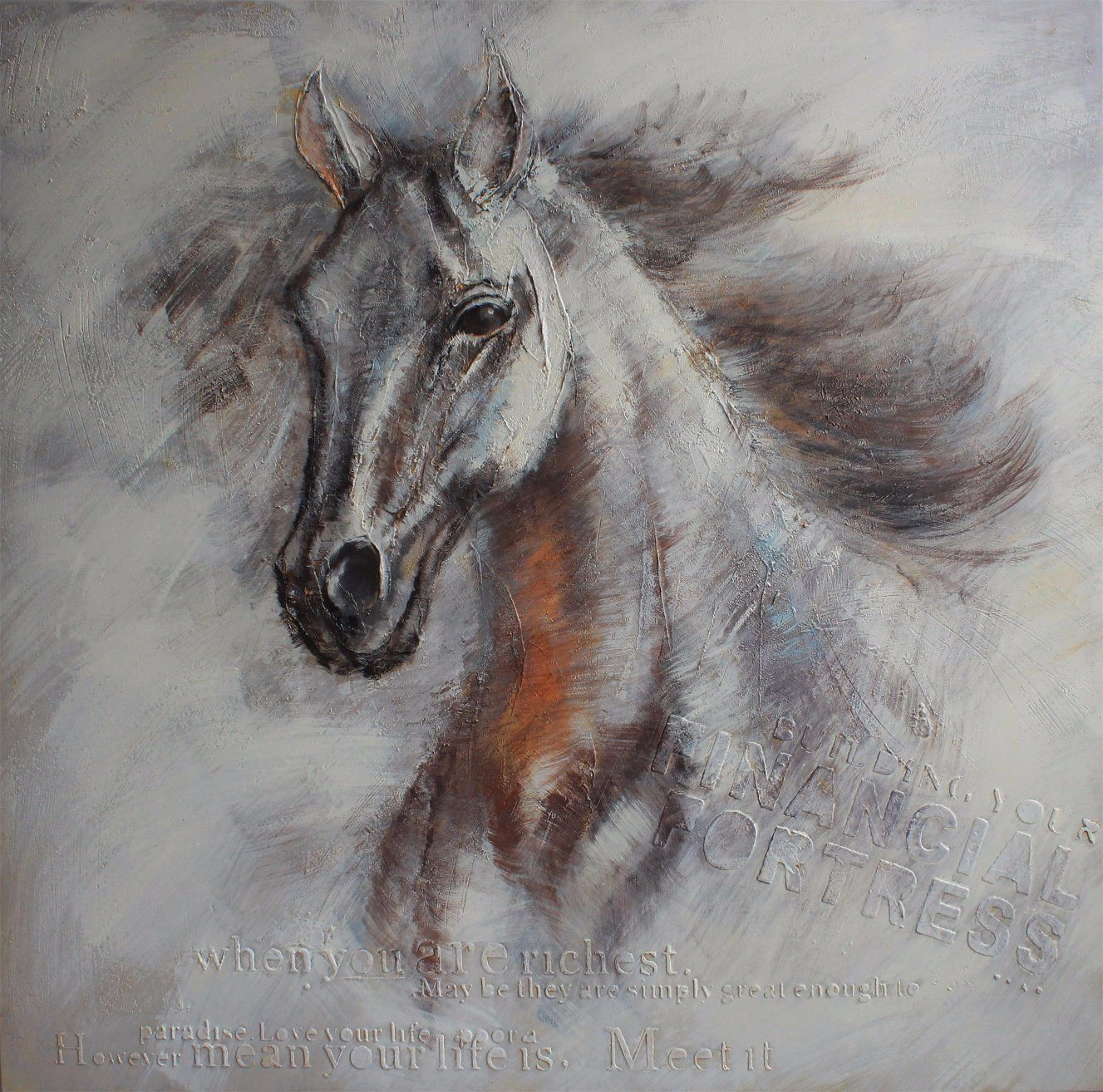 China Horse Head Oil Painting New Design China Oil Painting And Modern Oil Painting Price
