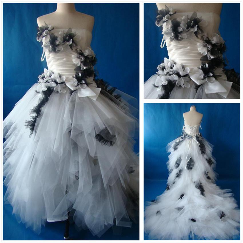 China Real Front Short Long Back Wedding Dress (XZ466) - China ...