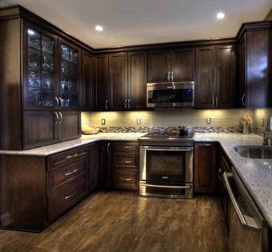 Chinese Kitchen Cabinets: China Espresso Kitchen Cabinet #30425