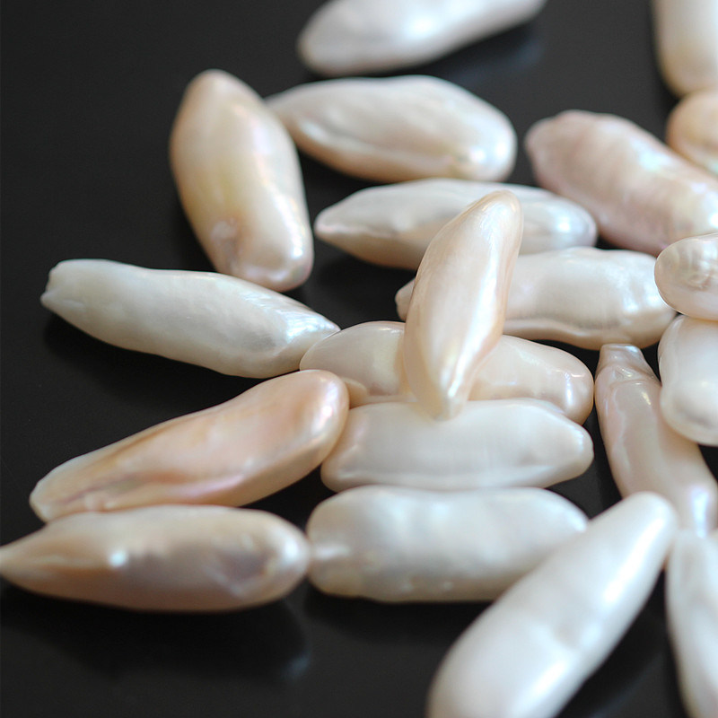 Long Irregular Baroque Shape Natural Pearl Beads, Aaaa Top Quality