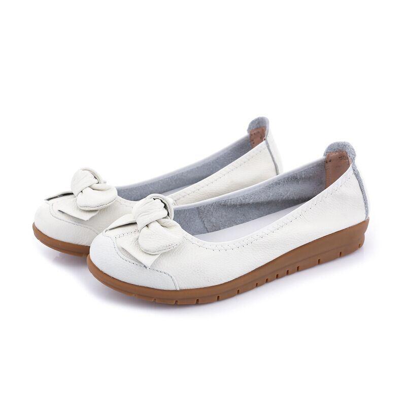 China White Nursing Shoes Leather