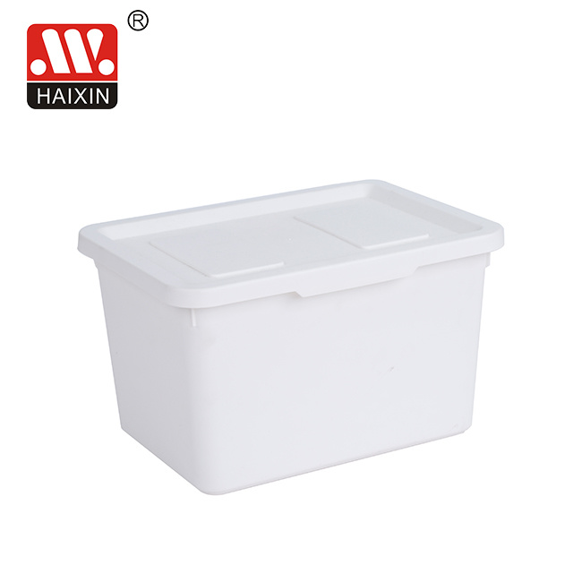 China Plastic Solid White Storage Box For Kitchen Bedroom Living Room With Lid China Storage Box And Storage Container Price