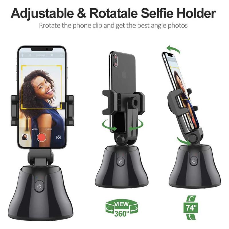 Smartphone Gimbal Stabilizer, Auto Tracking Smart Shooting Phone Holder 360 Rotation Smart Phone Gimbal