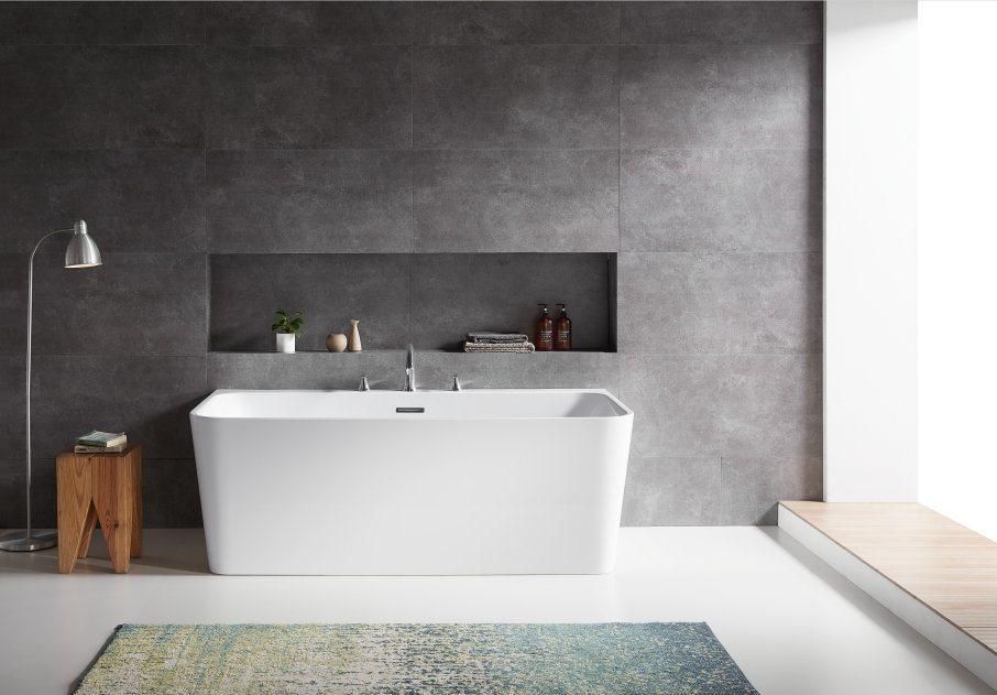 China High Quality Water Bath Five Star Hotel Design Bathtub Modern Seamless White Bathtub China Handle Massage Spa