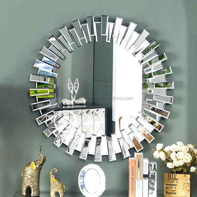 China Home Decor 3d Glass Bevel Wall Round Mirrors China Mirror Wall Mirrors