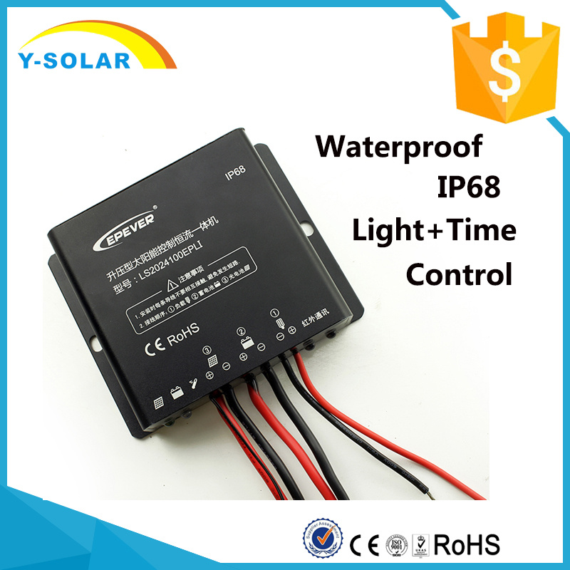 [Hot Item] 12V/24V Epsolar 20A Waterproof-IP68 Mobile-APP Solar Panel/Power  Controller Ls2024100epli