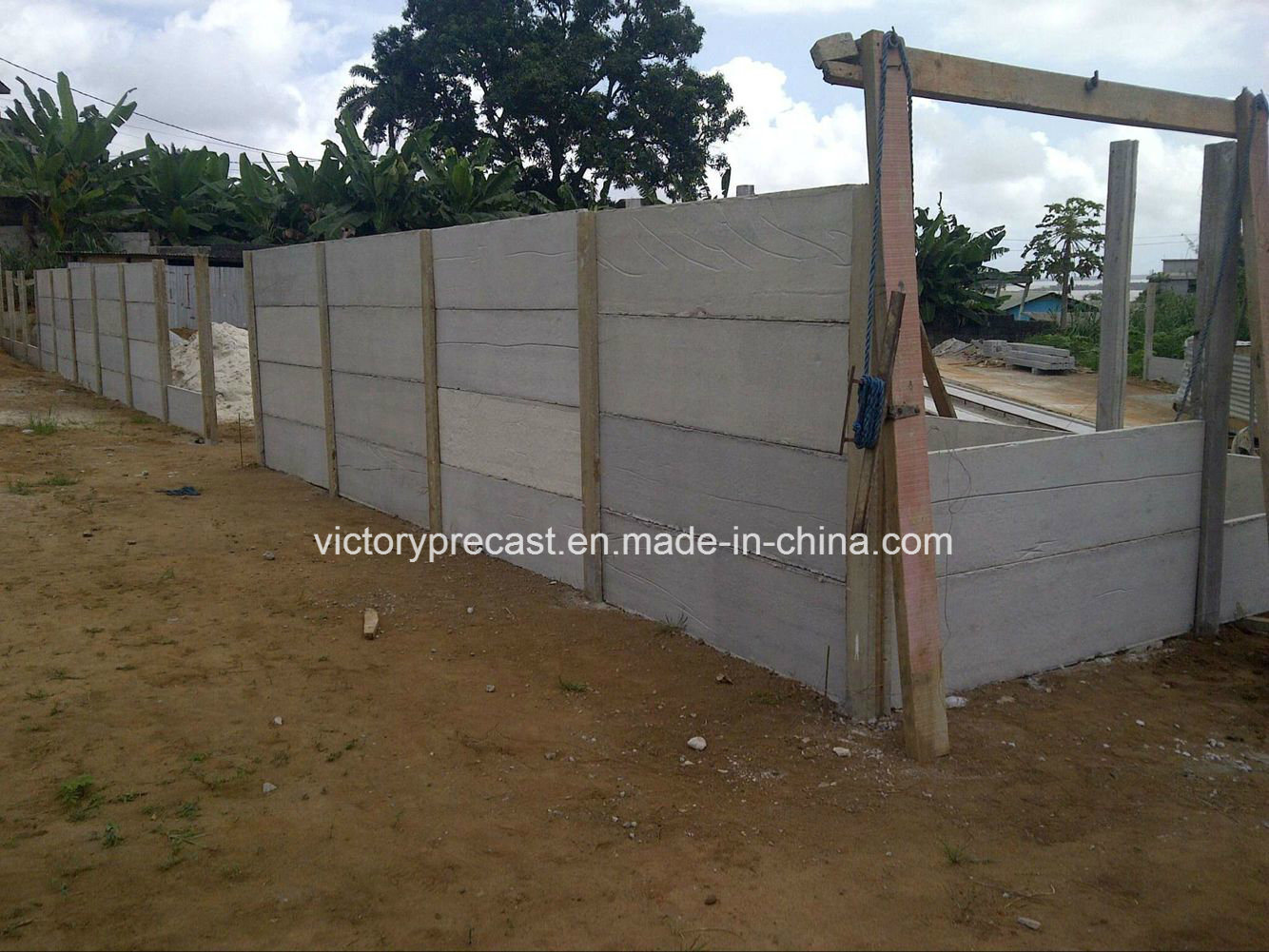 China Precast H Shape Concrete Beam Cement Post Making Machine