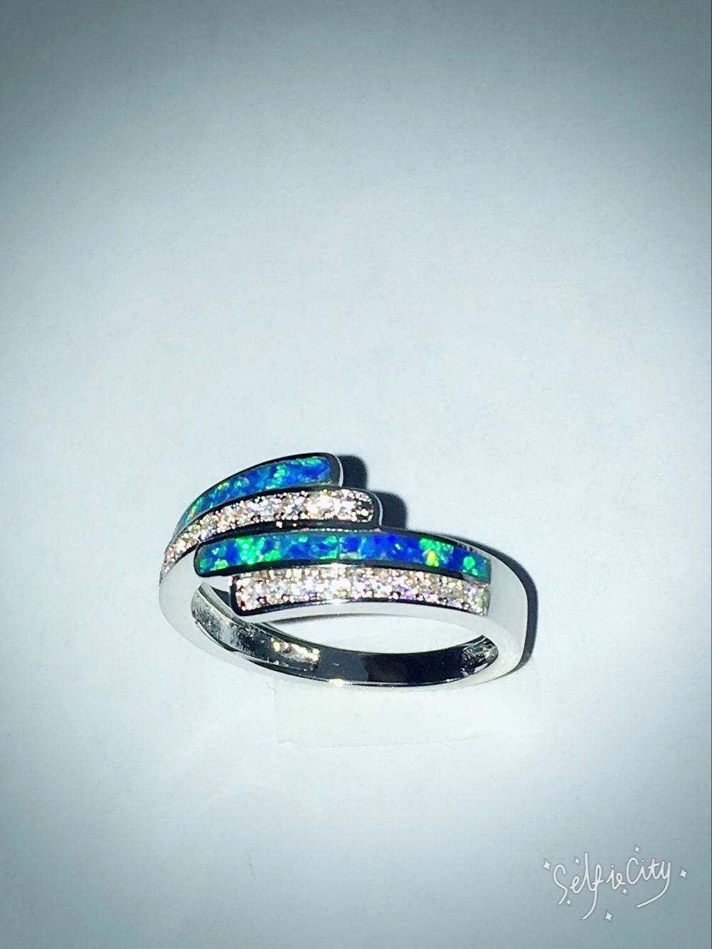 Silver Created Opal Jewelry Rings pictures & photos