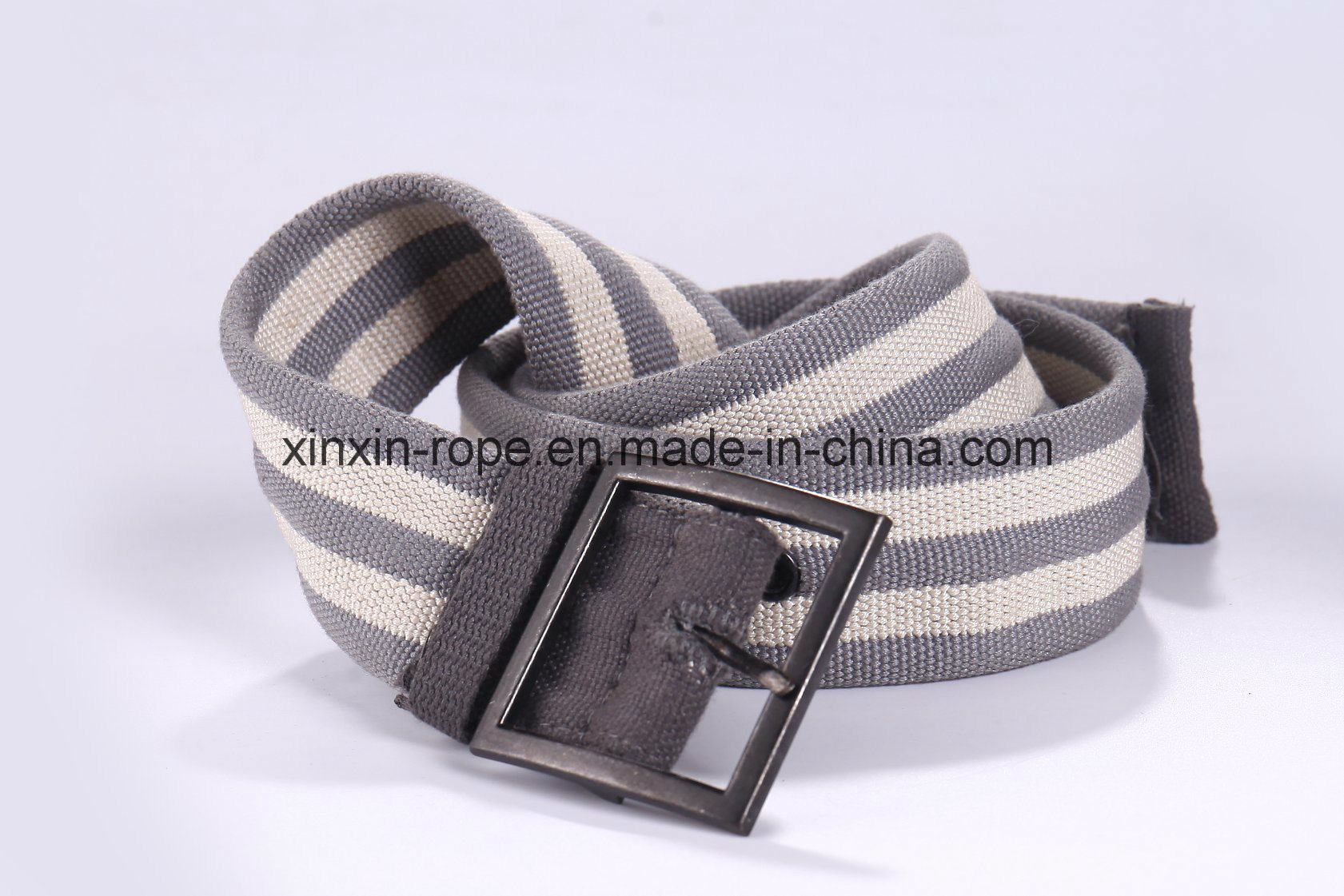 Sport Custom Wholesale Cotton/Polyester Braided Weaving Pin Buckle Belt