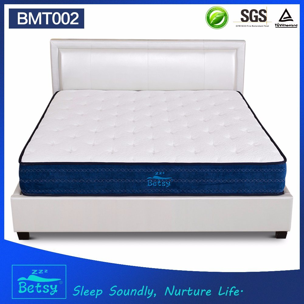 OEM Compressed Mattress Sizes 26cm High with Relaxing Pocket Spring and Massage Wave Foam Layer pictures & photos