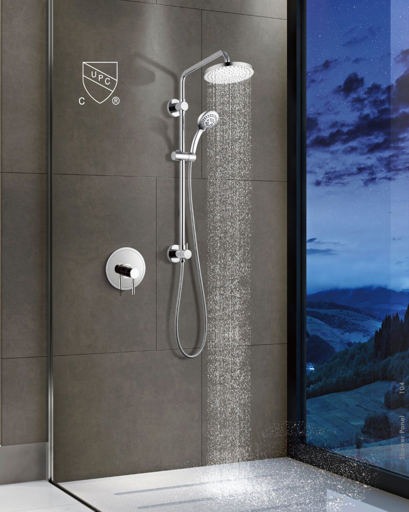 China Shower System With Rain Showerhead Hand Shower
