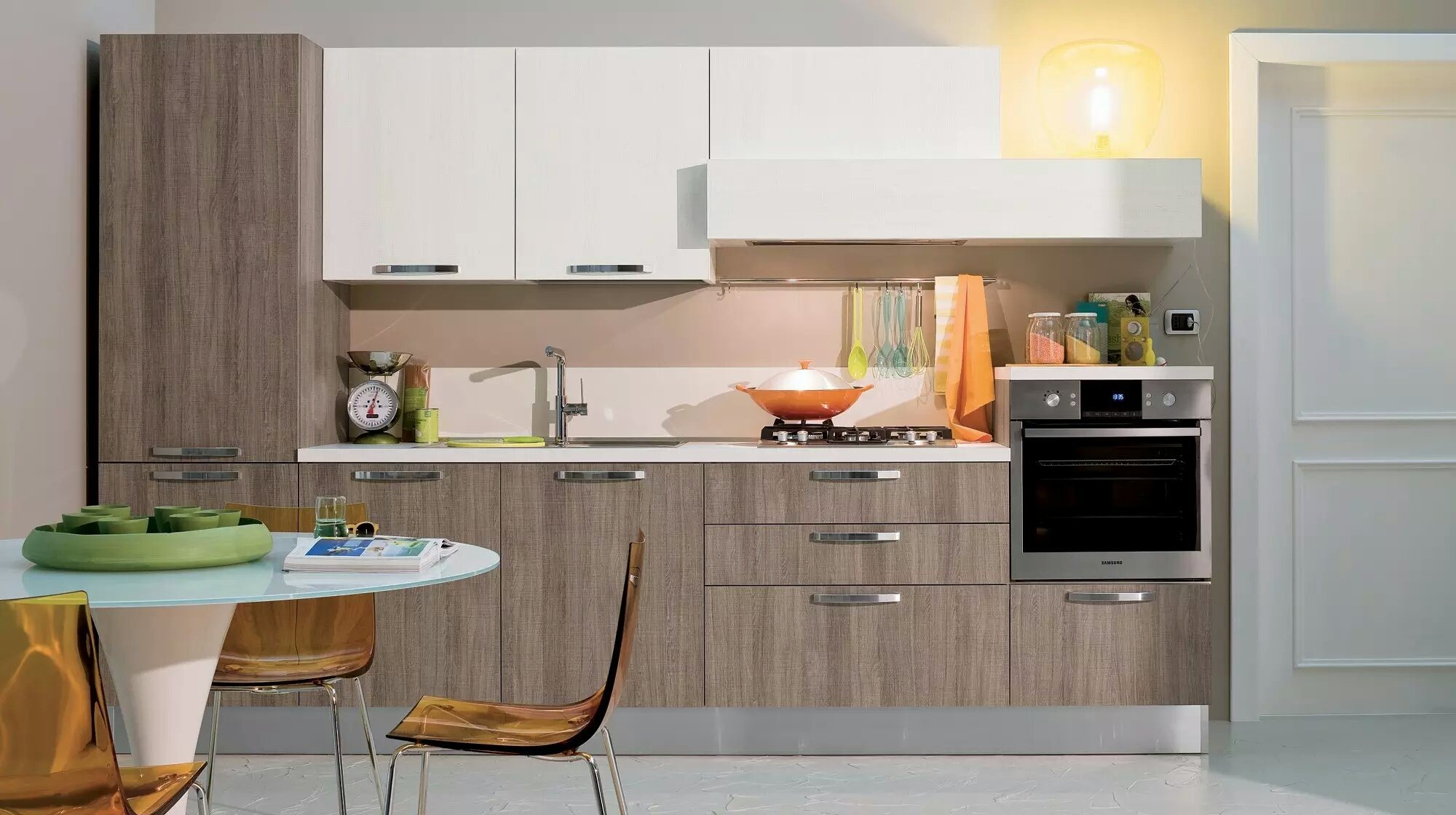 [Hot Item] MFC Simple Kitchen Cabinets for Apartment Project