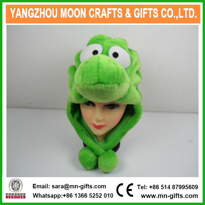 47391c352 [Hot Item] Plush Frog Animal Baby Winter Hat with Earflap