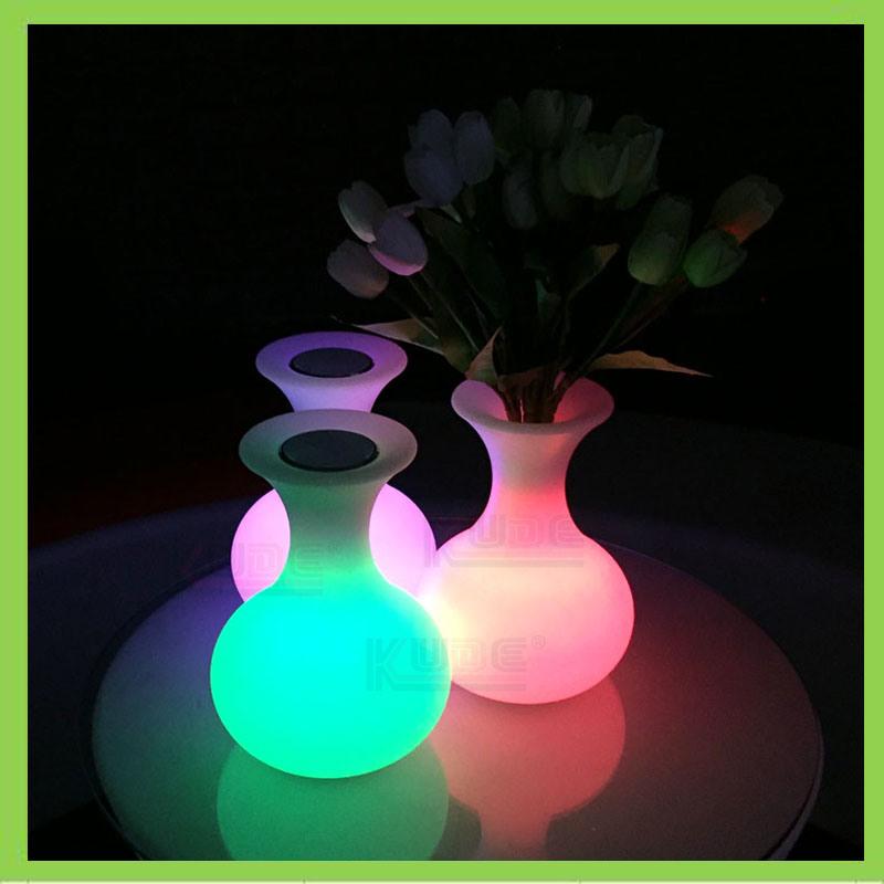 China Wireless Colorful Night Light Flower Vase Battery Powered LED Vase L& - China LED Vase L& Flower Vase Table L& & China Wireless Colorful Night Light Flower Vase Battery Powered LED ...