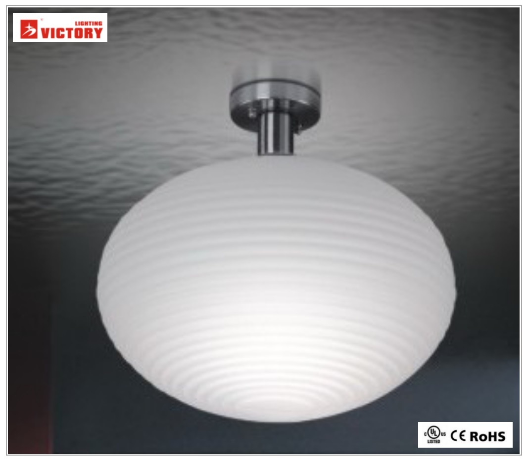 Modern Simple White Glass Decorative Ceiling Light for Living pictures & photos