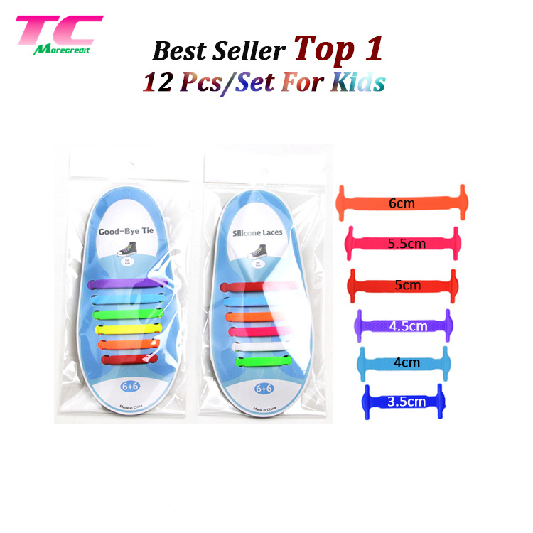 d3e156038104 Promotion Gifts Sports Good-Bye Tie Silicone Shoelaces Flat Rubber Lazy  Shoe Laces for Kids