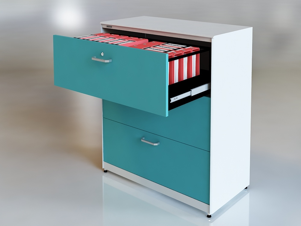 China New Style 3 Drawer Lateral Filing