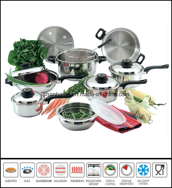 T304 Stainless Steel 15PCS Cookware Set Kitchenware