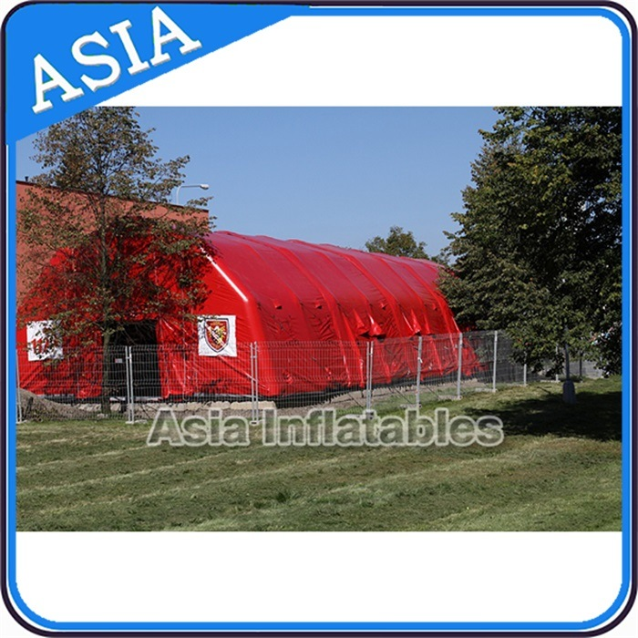 Outdoor Inflatable Military Tent, Inflatable Structure Tent, Red Crosstent