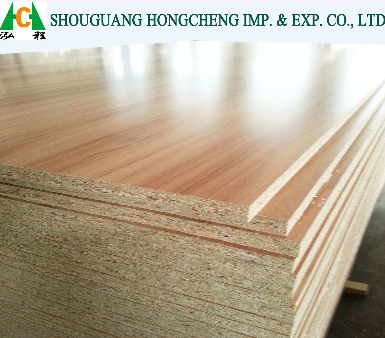 China 18mm E1 Grade Wooden Color Melamine Faced Particleboard For Construciton And Furniture Particle Board Raw
