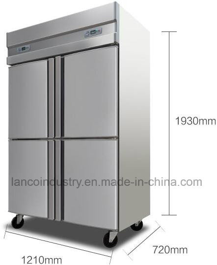 4 Door Popular Upright Commercial Stainless Steel Kitchen Freezer