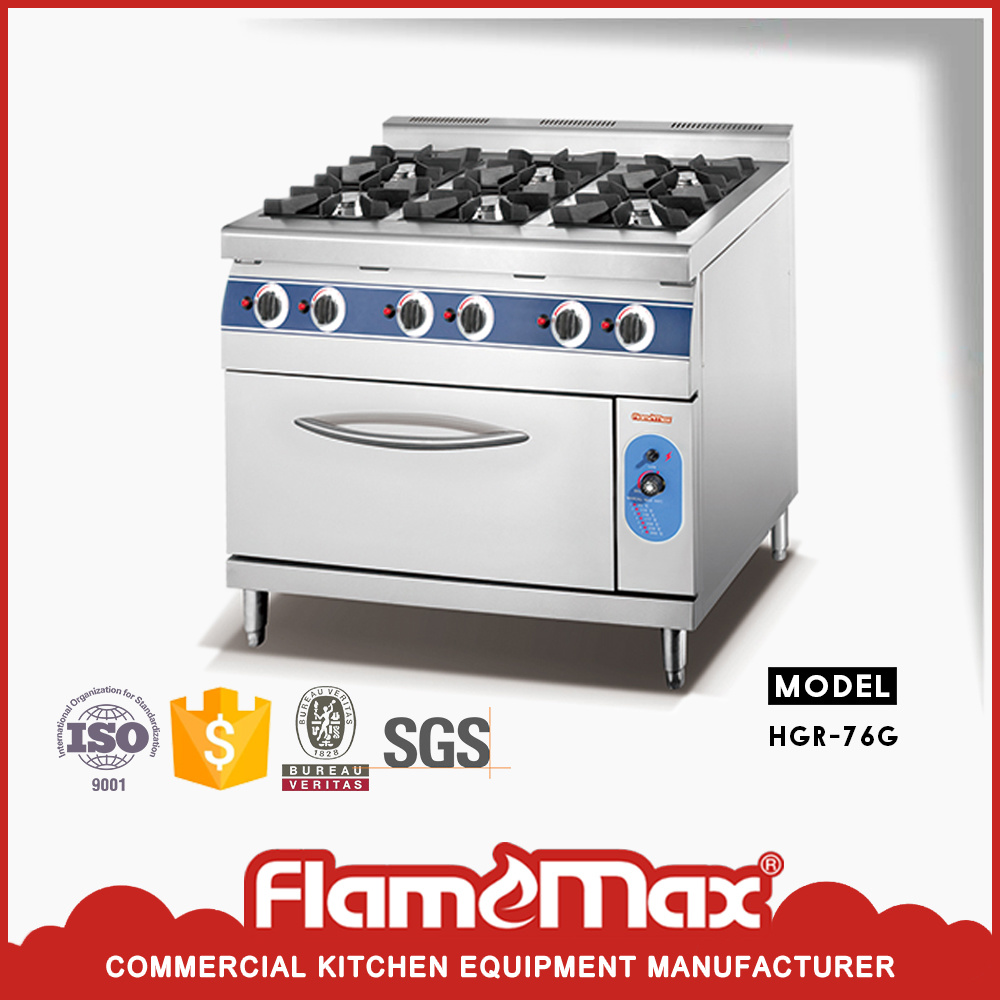 China 6 Burner Gas Cooking Range With