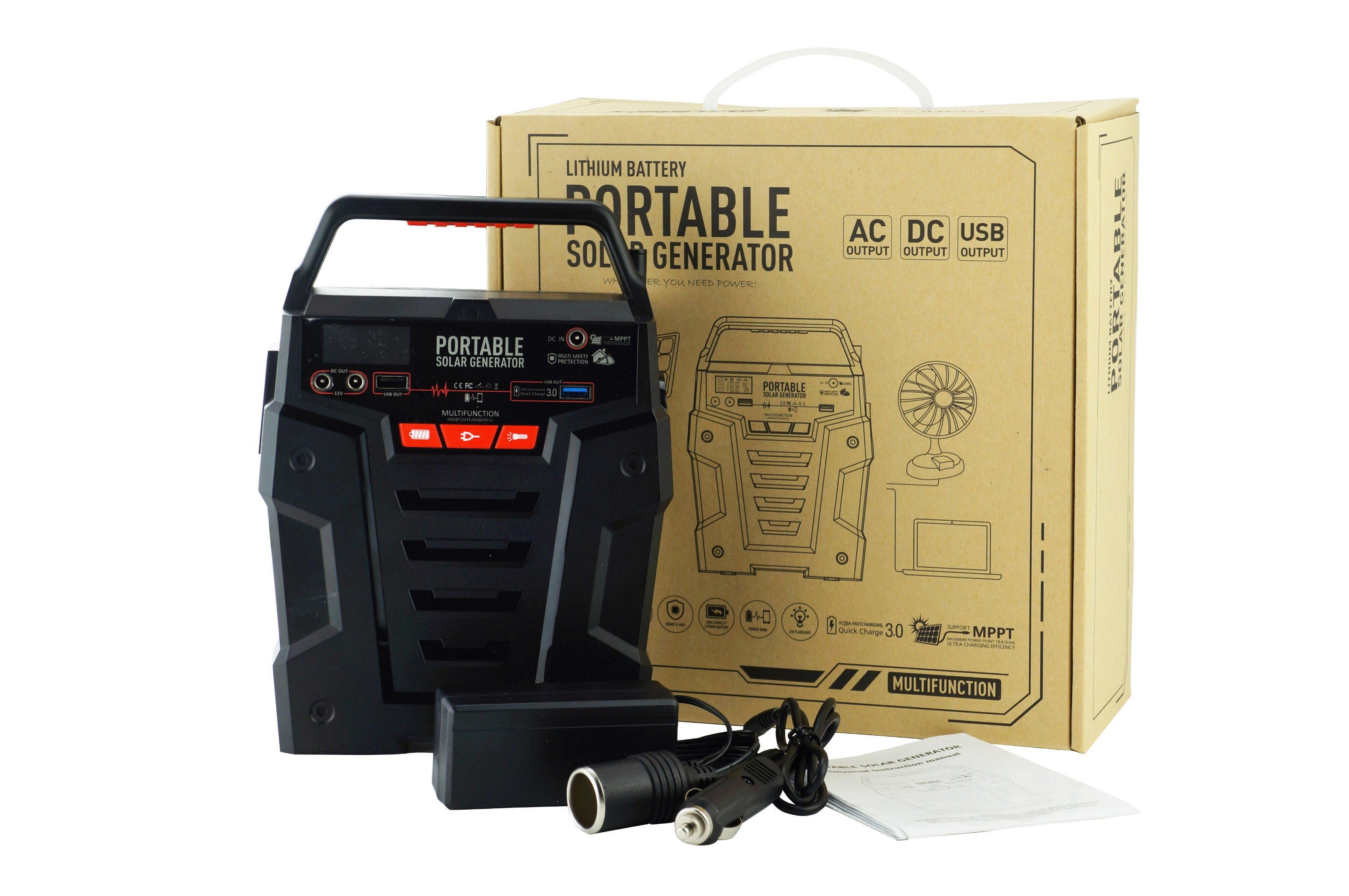 china portable solar power kit solar generator 100w for home use