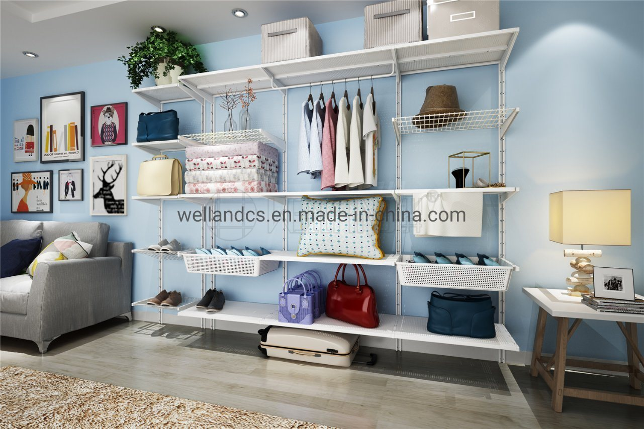 Hot Item Decorative And Multipurpose Adjustable Vintage White Wall Mounted Storage Display Shelving Unit