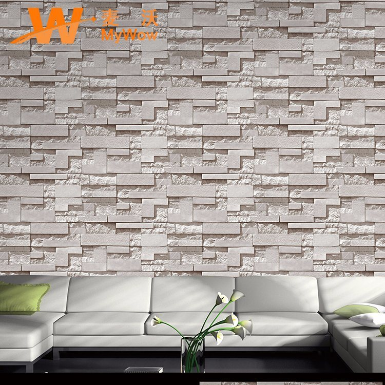 Hot Item Home Decor Wall Paper 3d Brick Wallpaper Vinyl Wallpaper
