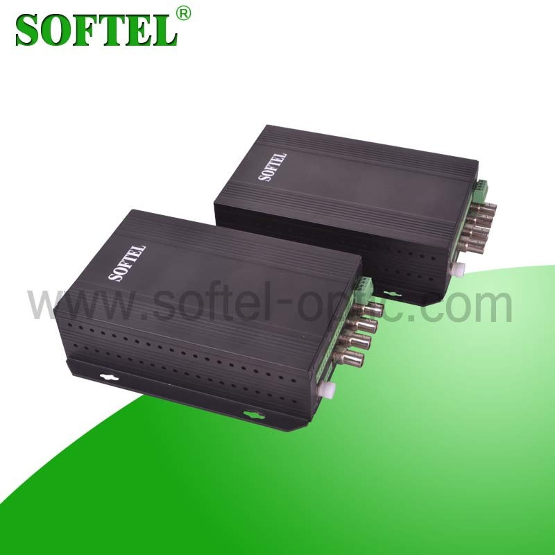 1 Video and 2 Audio Single Fiber Video to Optical Converter