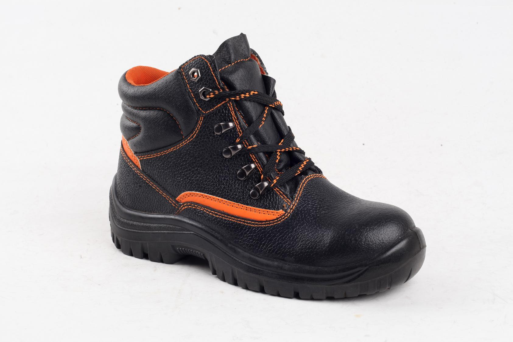S1p Full Grain Leather/Cow Split Leather Safety Shoes Sy5004
