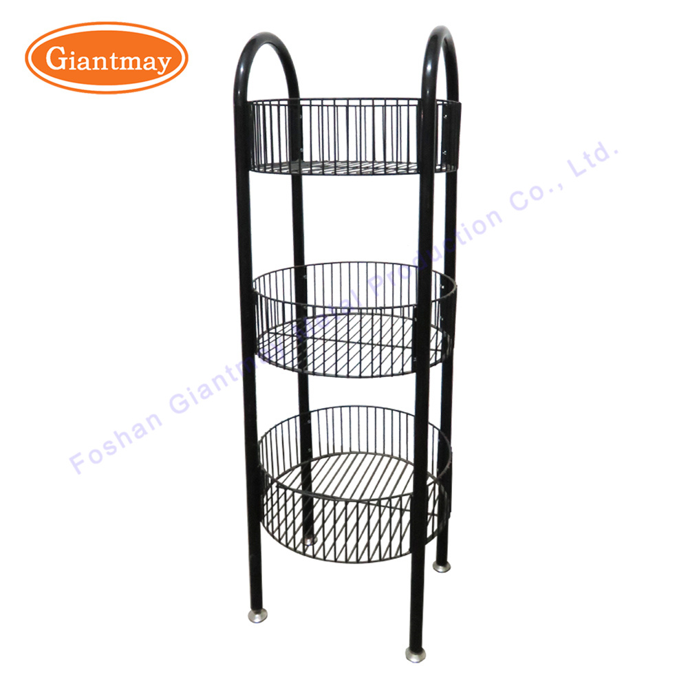 China Floor Standing Metal 3 Tier Wire Shelving Display Rack for ...