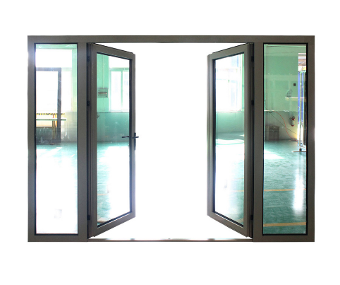 China Aluminum Frame Double French Door with Double Glass - China ...