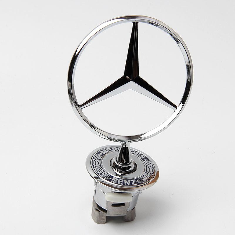 [Hot Item] Hood Emblem Ornament Badge Star Stand up Front Logo W210 for  Mercedes Benz