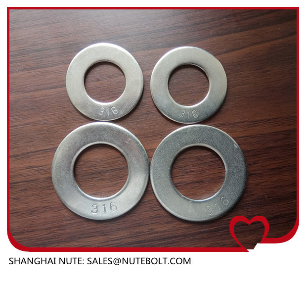 China Stainless Steel 304 316 Flat Washer DIN125 Uss SAE 1 4 5 16 3 8 7 2 9