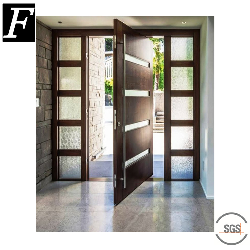China Us Villa Modern Pivot Entry Door With Sidelights