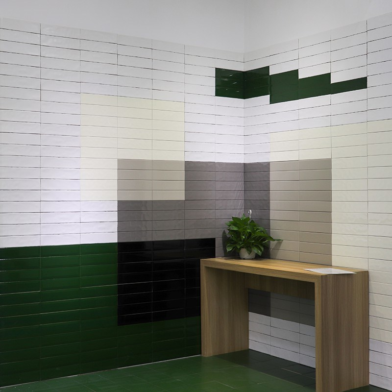 Ceramic Wall Tile In Green Color