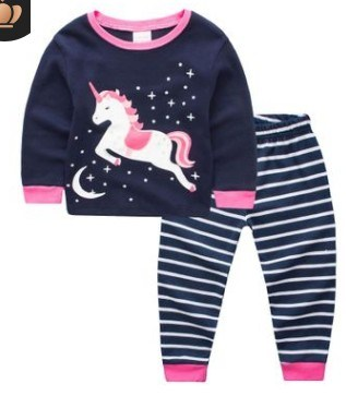 bf489ba009 China Cheaper Price Unicorn Sleepwear Kids Cotton Pajamas - China ...