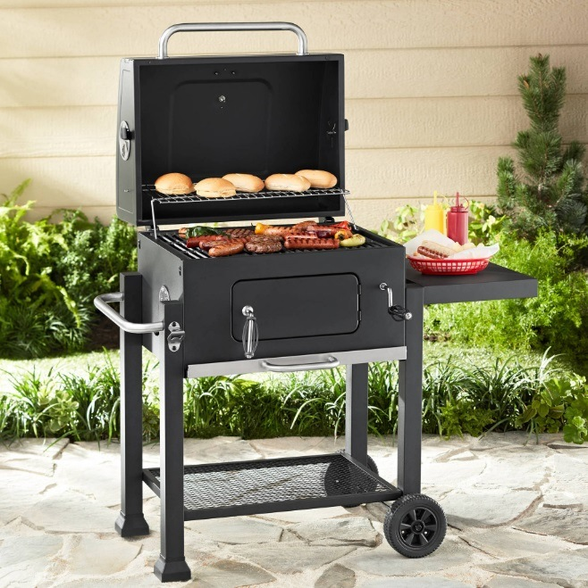High Quality Outdoor Bbq Grill With Food Platform Barbecue