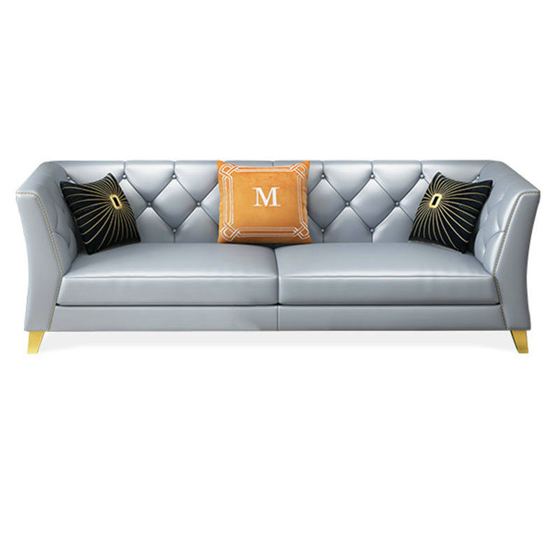 Stainless Steel Frame Loveseat Leather