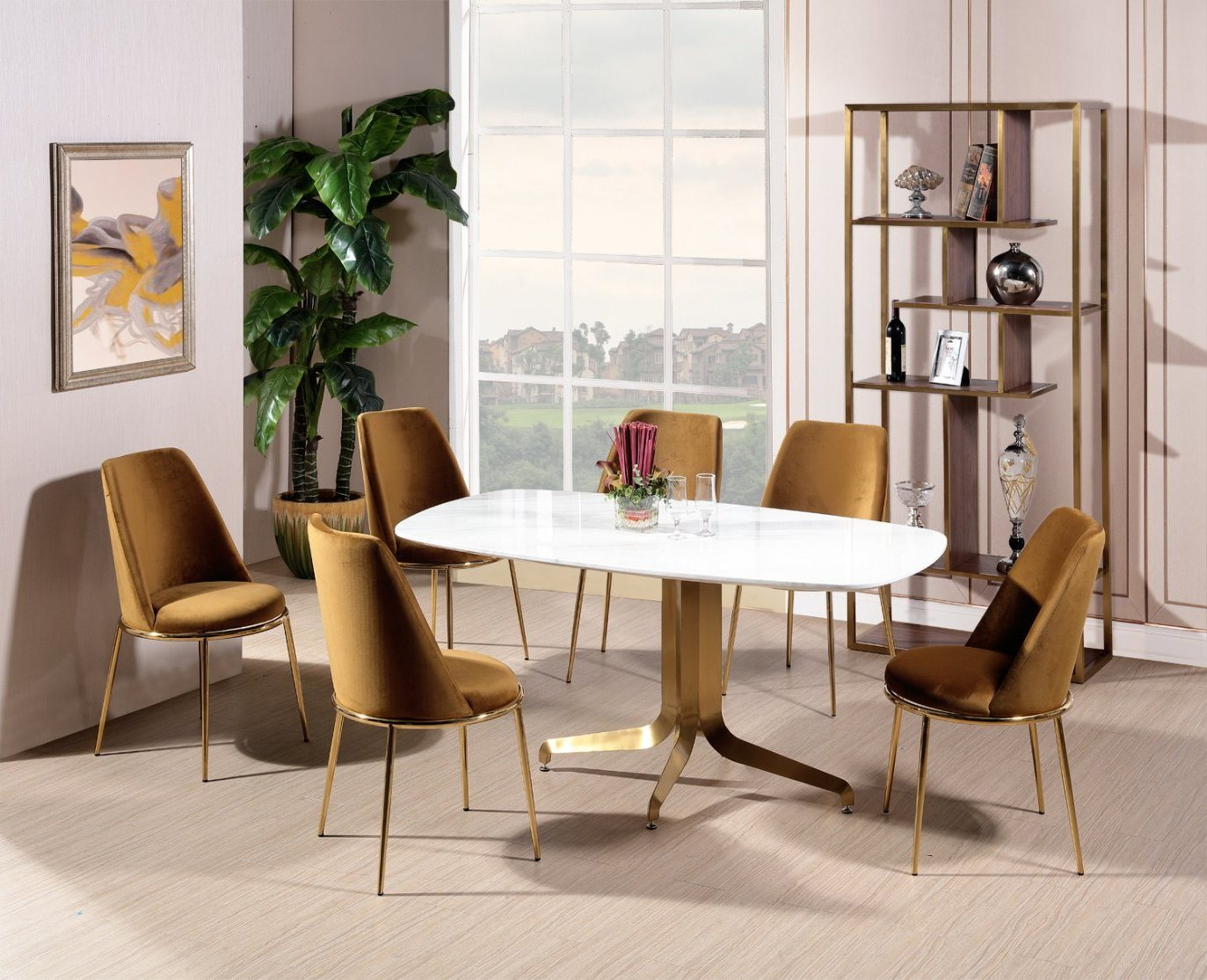 China Design Guild Velvet Dining Chair Furniture With Brass Legs Gold China Dining Chair Metal Chair