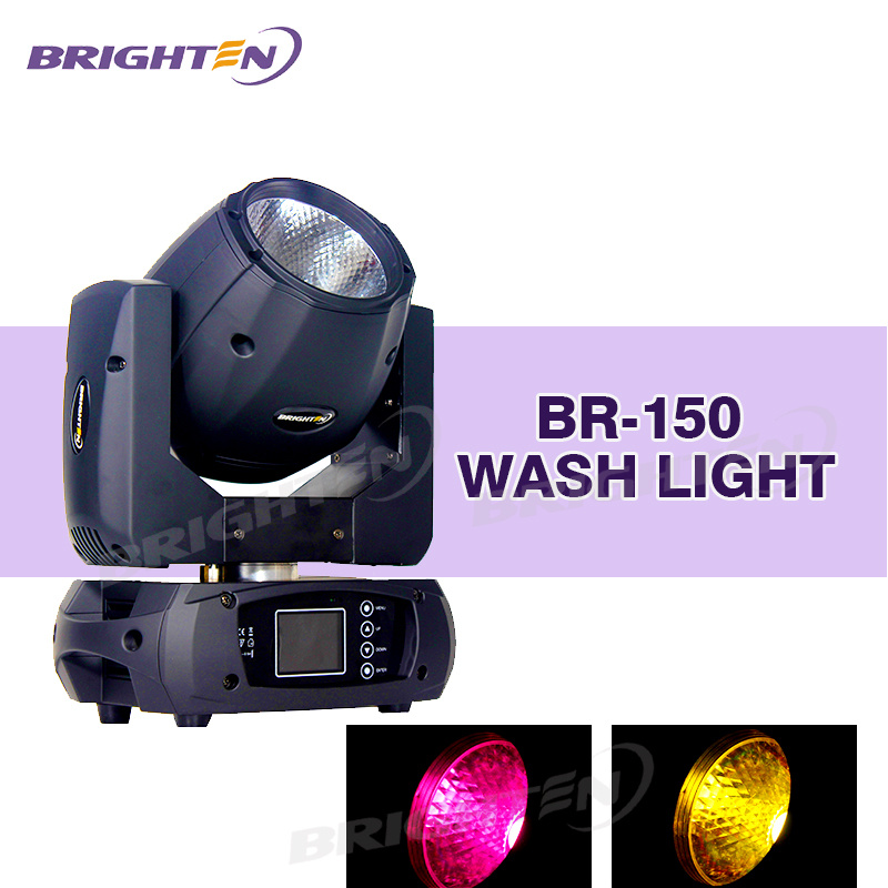 Mobile DJ Equipment 150W LED Moving Head Stage Lighting Wash