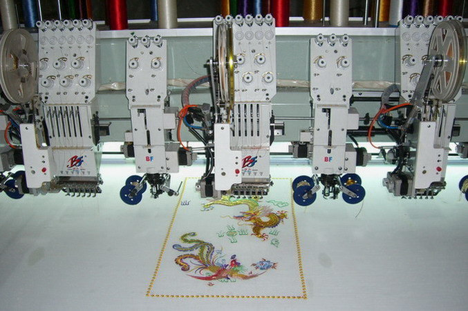 Computerized Mixed Embroidery Machine (BF-M908) Flat Coiling Sequin Embroidery Machine