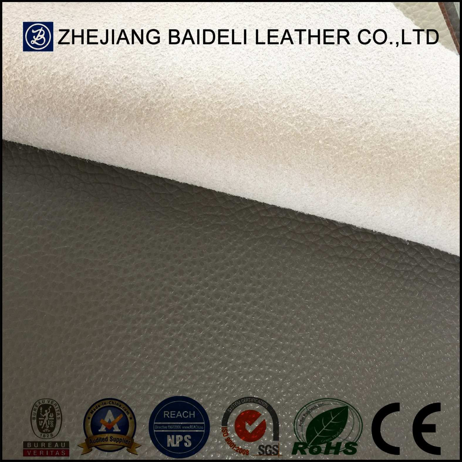 PVC Microfiber Faux Leather for Lady Bag